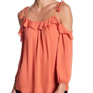 Joie Eukene Cold Shoulder Blouse NWT